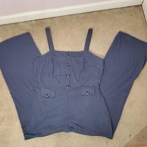 Derek Heart Blue Jumpsuit